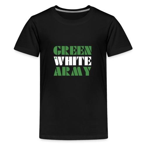 GREEN & WHITE ARMY - Teenage Premium T-Shirt