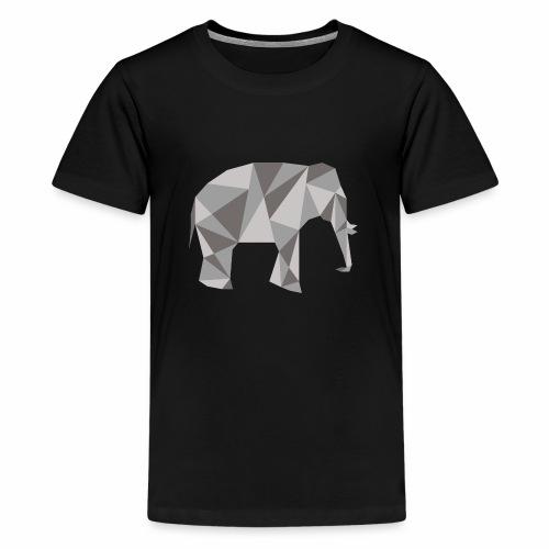 elephant géométrique - T-shirt Premium Ado