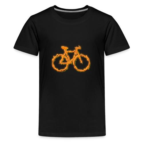 Fahrrad in Flammen - Teenager Premium T-Shirt