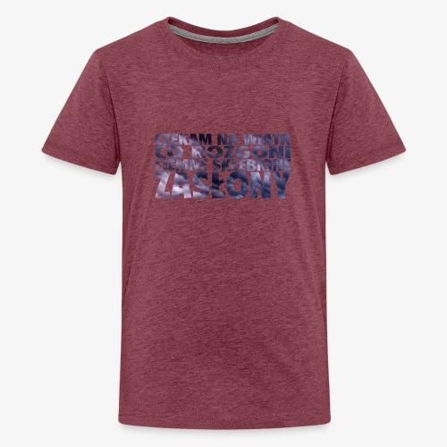 Czekam na wiatr - Koszulka młodzieżowa Premium