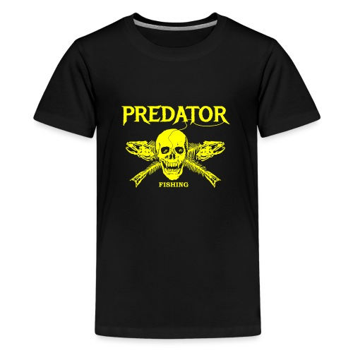 Predator fishing yellow - Teenager Premium T-Shirt