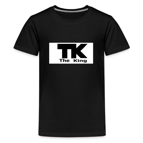 The King med ram - Premium-T-shirt tonåring