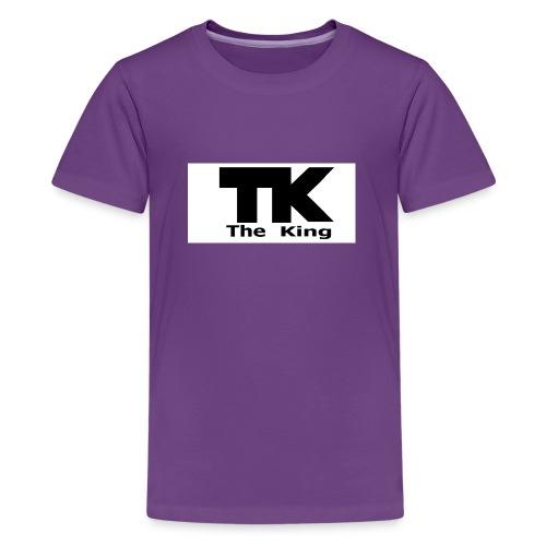 The King med ram - Premium-T-shirt tonåring
