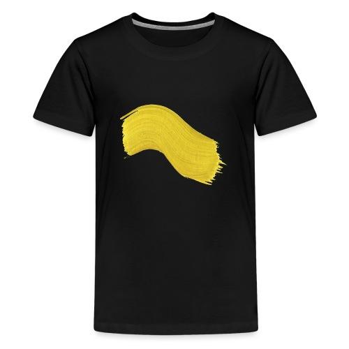 Yellow paint - Premium T-skjorte for tenåringer