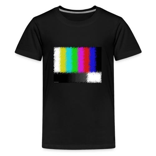 Testbild bunte Streifen - Teenager Premium T-Shirt