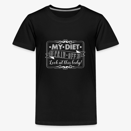 Handlettering My diet paid off (W) - Teenager Premium T-shirt