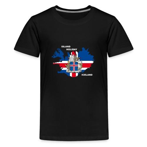 Island Iceland Holiday Urlaub - Teenager Premium T-Shirt