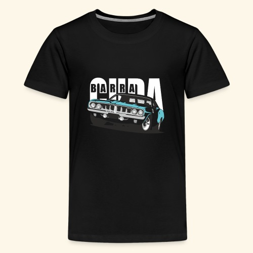 Blue Cuda - Teenage Premium T-Shirt