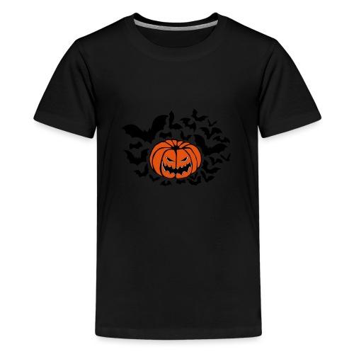 Pumpkin Bats - Teenage Premium T-Shirt
