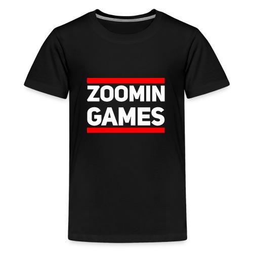 9815 2CRun ZG White - Teenage Premium T-Shirt