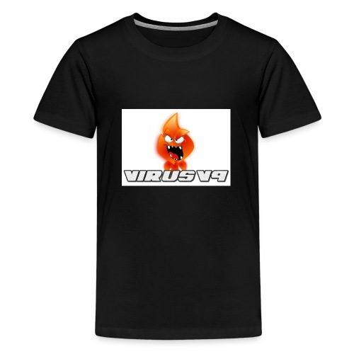 Virusv9 Weiss - Teenager Premium T-Shirt