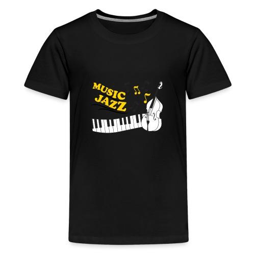 music jazz con piano e contrabbasso - Maglietta Premium per ragazzi