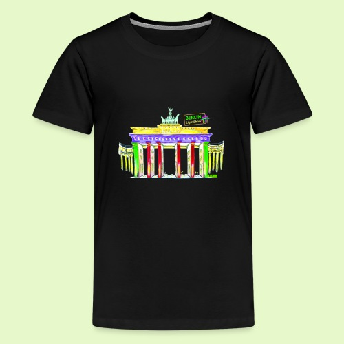 Berlin/Brandenburger Tor/PopArt/BerlinLightShow - Teenager Premium T-Shirt