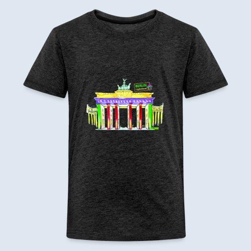 Berlin/Brandenburger Tor/PopArt/BerlinLightShow - Teenager Premium T-Shirt
