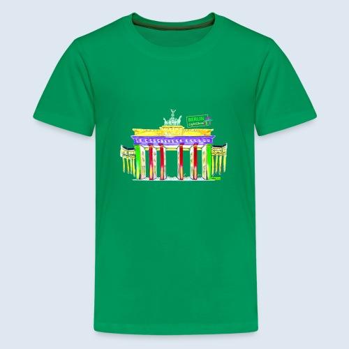 "Berliner ""Brandenburger Tor"" PopArt BLS Design - Teenager Premium T-Shirt"