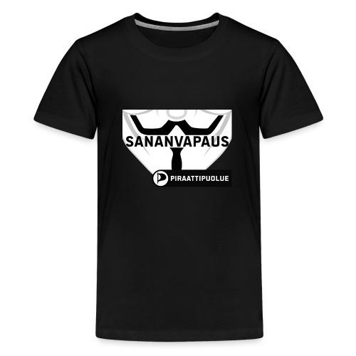 Sananvapaus - Teinien premium t-paita