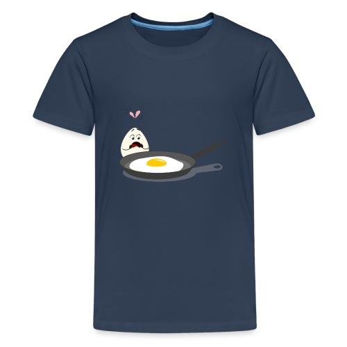 Broken Love, Eier, Liebespaar - Teenager Premium T-Shirt