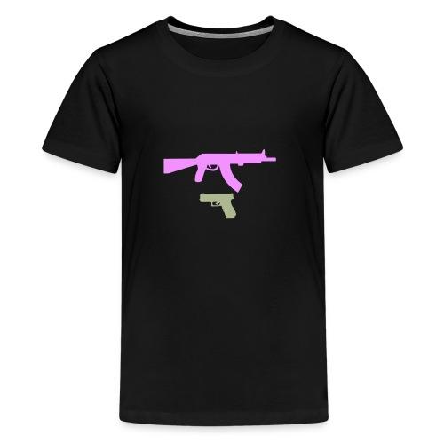 PINK GUN - Koszulka młodzieżowa Premium