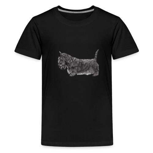 skotsk terrier ub - Teenager premium T-shirt