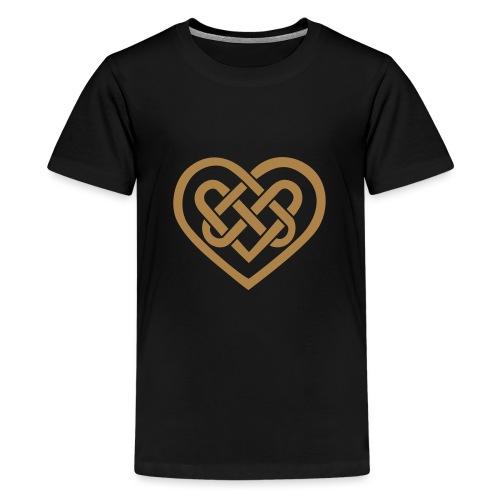 Keltisches Herz Symbol Unendlichkeit Ewige Liebe - Teenager Premium T-Shirt