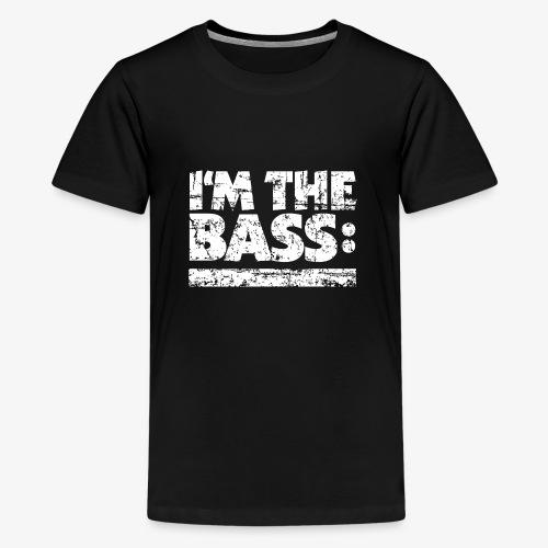 I'M THE BASS Vintage White Line - Teenager Premium T-Shirt