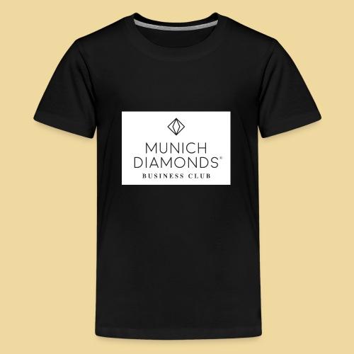 MDBC Logo weiss - Teenager Premium T-Shirt