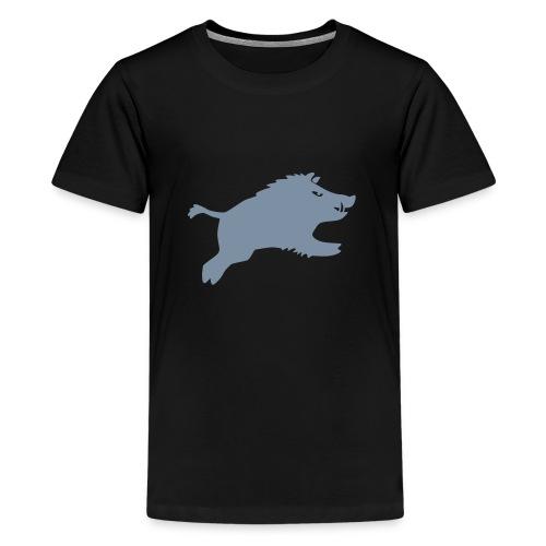 Schwein springt 2015 - Teenager Premium T-Shirt