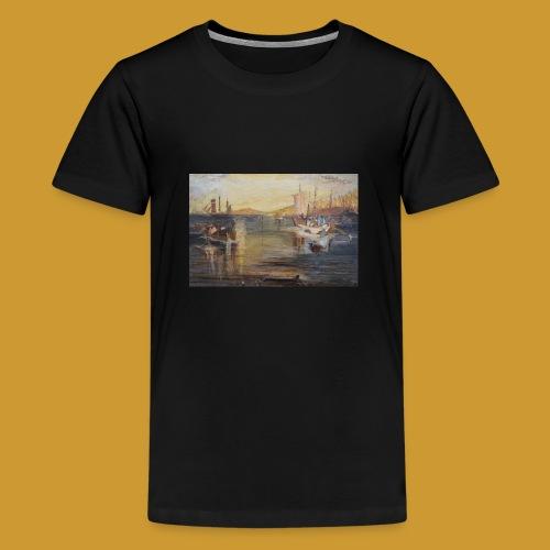 White Fishing - Mark Noble Art - Teenage Premium T-Shirt
