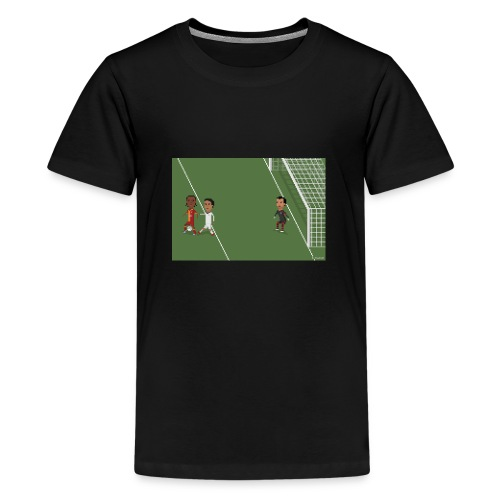 Backheel goal BG - Teenage Premium T-Shirt