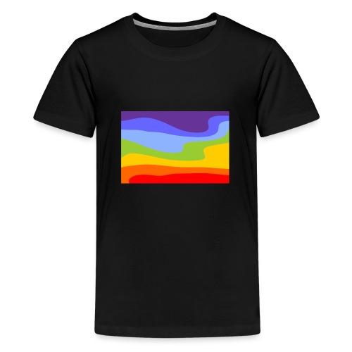 Hintergrund Regenbogen Fluss - Teenager Premium T-Shirt