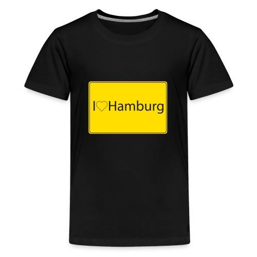 I love hamburg - Teenager Premium T-Shirt