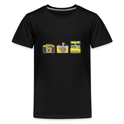 Ilex 3 Yellow Cameras - Teenage Premium T-Shirt