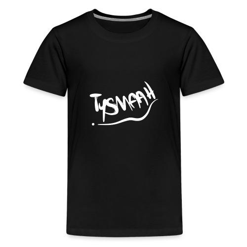 Logo blanc - TYSMAAH - T-shirt Premium Ado