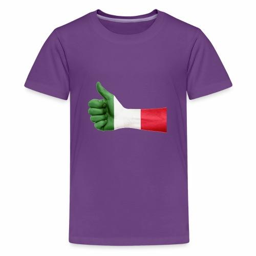 Italienische Flagge auf Daum - Teenager Premium T-Shirt