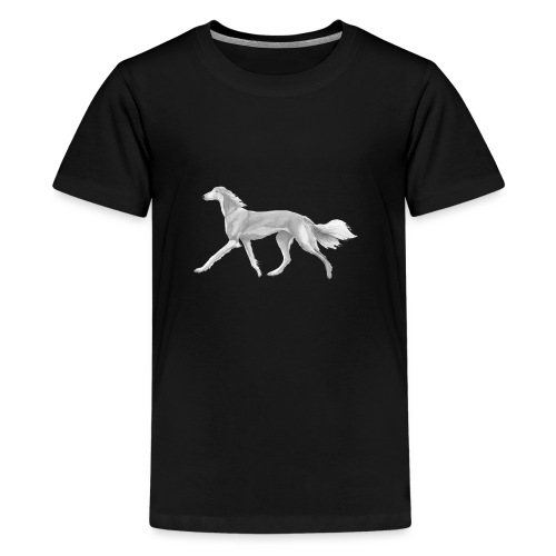 saluki - running - Teenager premium T-shirt