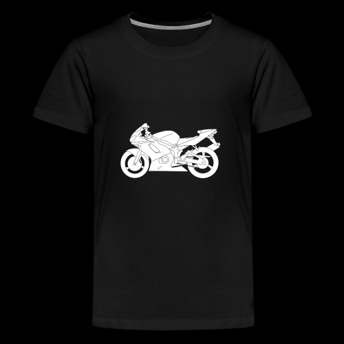 Four Wheels Moves The Body, Two Wheels Moves The S - Teenage Premium T-Shirt
