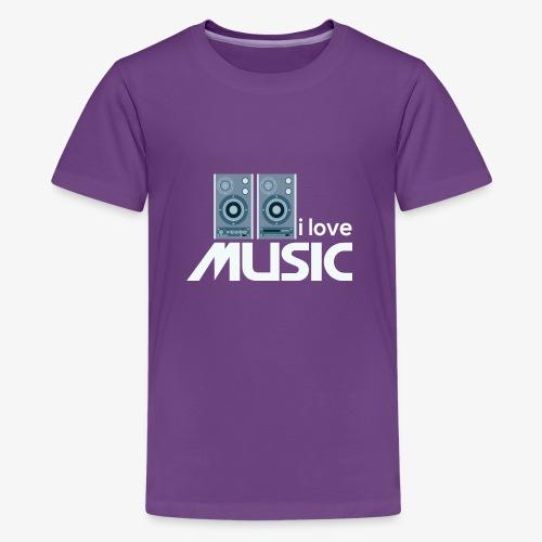 Amo la música 02 - Camiseta premium adolescente