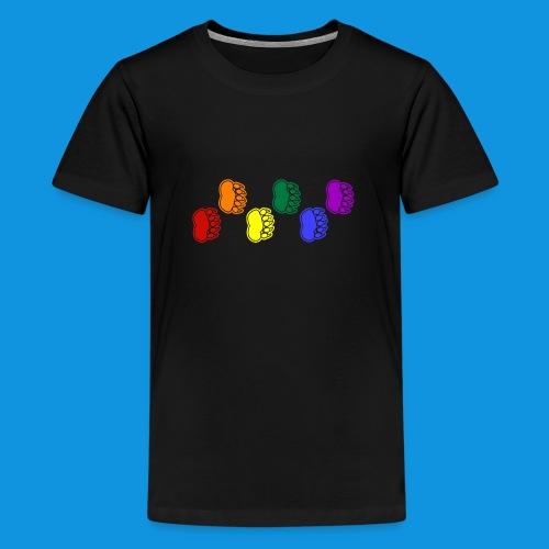 Rainbow Paws tank - Teenage Premium T-Shirt