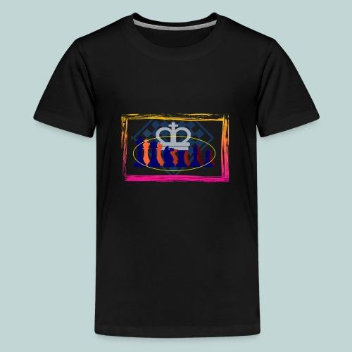 figurensatz_vor_brett - Teenager Premium T-Shirt