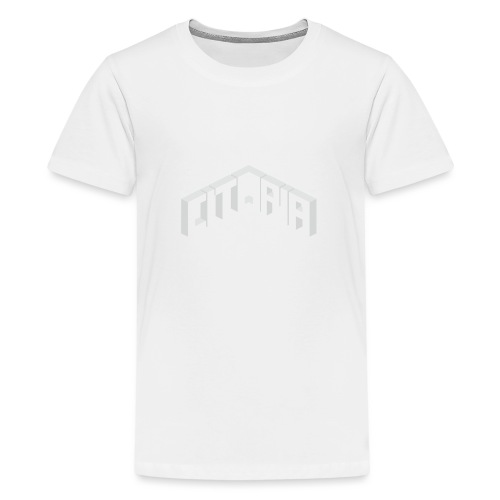 Logo with Slogan - Teenage Premium T-Shirt