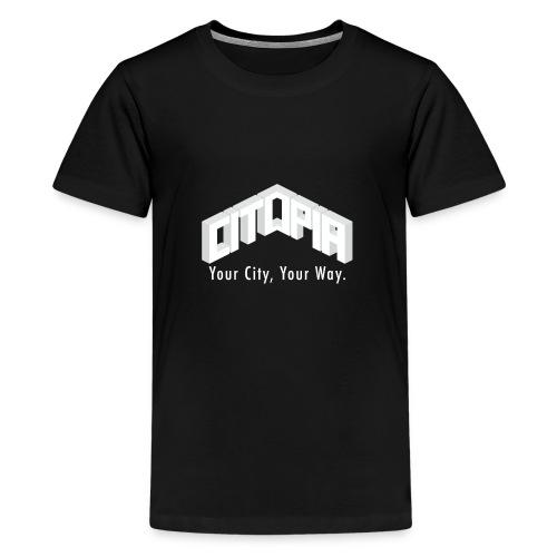 Logo with Slogan - Teenage Premium T-Shirt