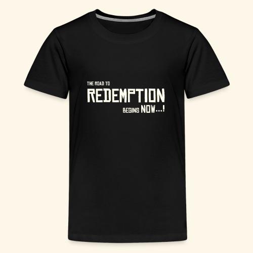 Wild West Game Text Design - Teenage Premium T-Shirt