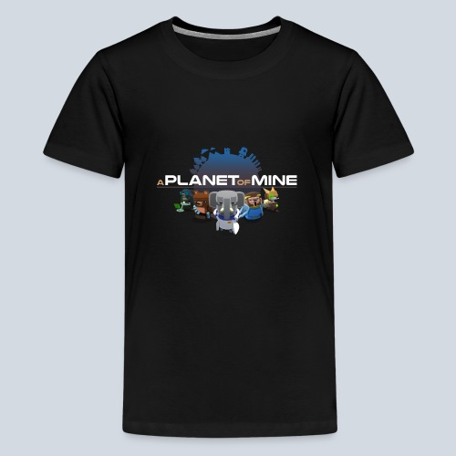 logo planetofmine dark HD - T-shirt Premium Ado