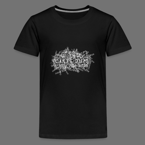 carpe diem (hvid) - Teenager premium T-shirt