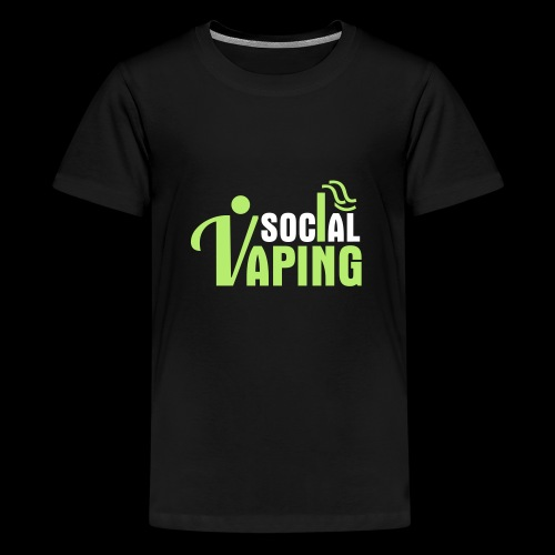 SOCIAL VAPING LOGO - Teenage Premium T-Shirt