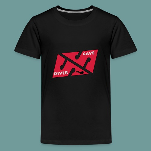 cave_diver_01 - T-shirt Premium Ado