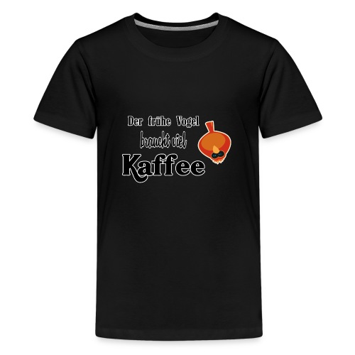 kaffeeVogel.png - Teenager Premium T-Shirt