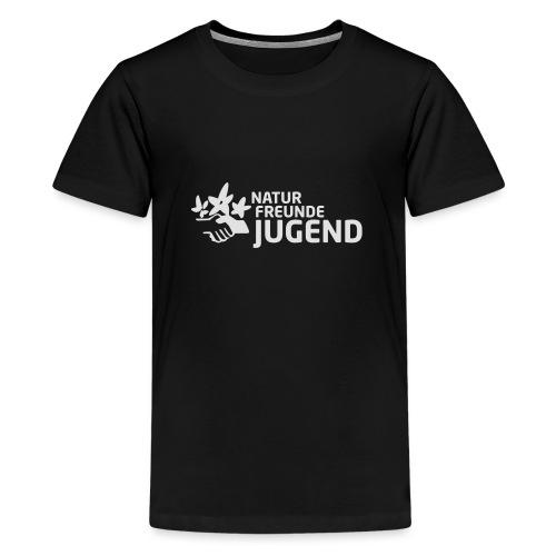 LogoNFJ_weiß_Druck - Teenager Premium T-Shirt