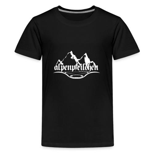 Alpenpfeilchen - Logo - white - Teenager Premium T-Shirt