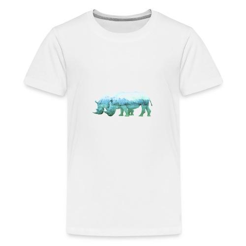 RHINOS, DIE NASHÖRNER IN DEN ALPEN - Teenager Premium T-Shirt
